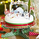 north pole christmas cupcake toppers