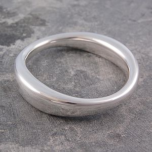 Chunky Sterling Silver Flowing Bangle - bracelets & bangles