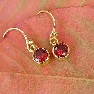 Birthstone Earrings In 18ct Gold - earrings