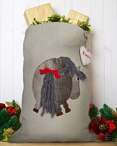 Luxury Personalised Pony/Horse Santa Sack - stockings & sacks