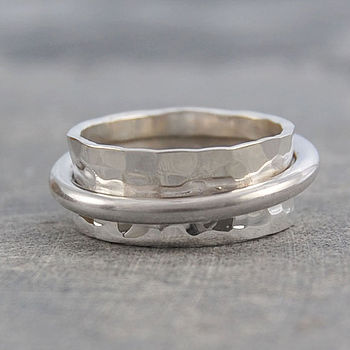 Chunky Sterling Silver Rotating Ring