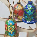 Set Of Three Handpainted Bells