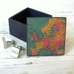 Vintage Map Trinket Box - jewellery storage & trinket boxes