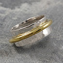 Chunky Sterling Silver Rotating Ring Duo