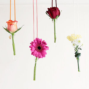 Personalised Hanging Glass Test Tube Vase - fresh & alternative flowers