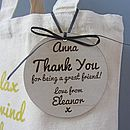 Personalised Pamper 'Thank You' Bag