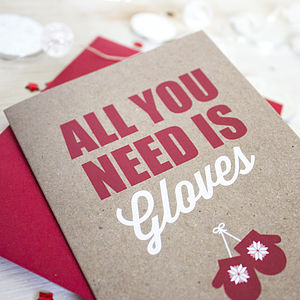 All You Need Is Gloves Christmas Card