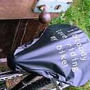 'I Bloody Love' Bike Seat Rain Cover