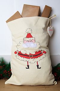 Personalised Father Christmas Santa Sack