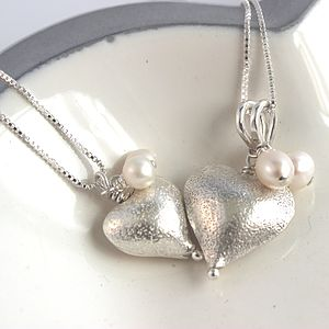 Mini Rosaline Silver Heart Necklace