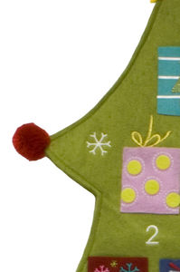 Large Green Felt Advent Calendar