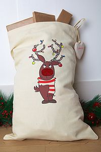 Personalised Rudolph Christmas Sack