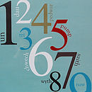 Welsh Numbers Poster
