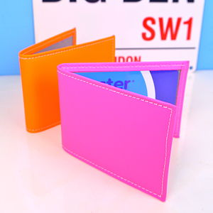Fluorescent Leather Travel Card Holder - passport & travel card holders