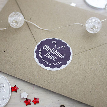 Personalised Round Christmas Stickers