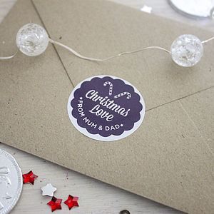 Personalised Round Christmas Stickers - shop by category
