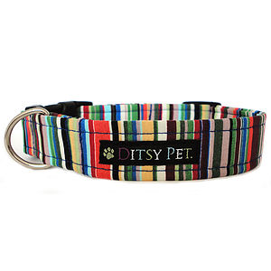 Joseph Striped Dog Collar - dogs