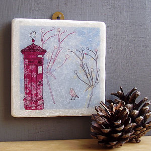Robin And Postbox Hanging Decoration