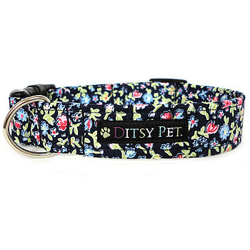 Heather Floral Dog Collar