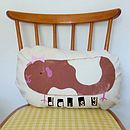 Personalised Children's Guinea Pig Cushion Girl