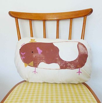 Handprinted Children's Guinea Pig Cushion