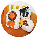 meet the gang... other animal cushions available