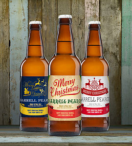 Personalised Christmas Beer - food gifts