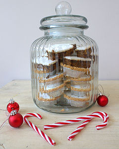 Ridged Glass Biscuit Jar - storage & organisers