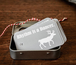 18 Christmas Gift Tags And String 'Reindeer'