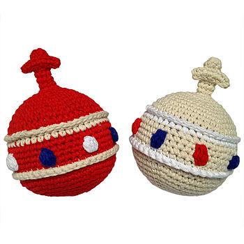 Handmade Crochet Orb Rattle