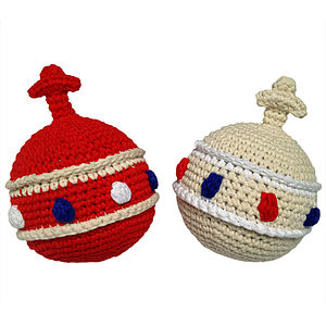 Handmade Crochet Orb Rattle - royal baby inspired gifts