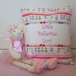 Ballerina Mouse And Cushion Gift Set - cushions