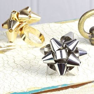 Present Bow Ring - rings