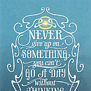 Never Give Up Typographic Print