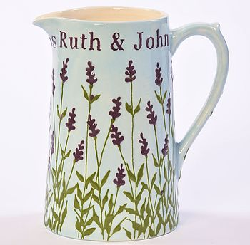 Personalised Lavender Jug, Hand Painted
