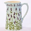Personalised Hand Painted Lavender Jug