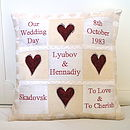 Personalised Wedding Memory Cushion