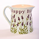 Personalised Lavender Milk Jug