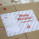 Personalised Rectangular Christmas Stickers