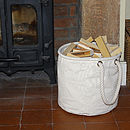 Natural Canvas Kindling Basket