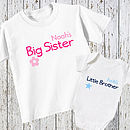 Personalised Brother And Sister Set