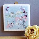Little Birds Decorative Marble Tile