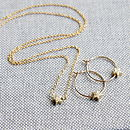 Petite Star Hoop Earrings And Necklace
