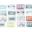 Personalised Play List Cassette Print
