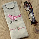 Personalised Glasses Case For Her Bird