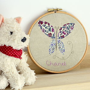 Personalised Child's Embroidered Wall Art - children's room