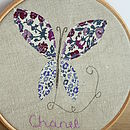 Personalised Child's Embroidered Wall Art