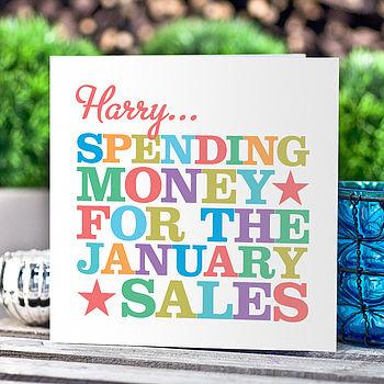 Personalised 'Spending Money' Card