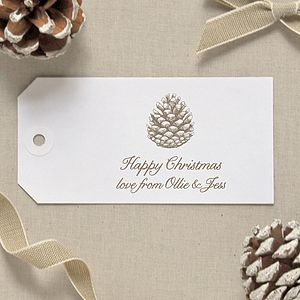 Personalised Pinecone Gift Tags