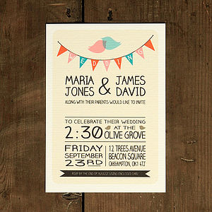 Whimsical Lovebirds Wedding Invitation - you said yes